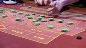 gaming chips : The Chips On The Gaming Table Stock Footage