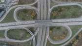 ring road : Top view of busy traffic at bypass road in Dragalevtsi Boyana, Sofia Stock Footage