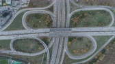 eyaletler arası : Top view of rush hour. Busy ring road at Sofia, Bulgaria