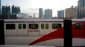 moderno : Kuala Lumpur Malaysia  April 06 2015: KL Monorail train was leaving the station in the moring