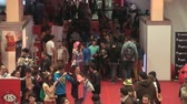 gamers : Bucharest, May The 10th, East European Comic Con, Huge Crowd Of People Aerial View Zoom Out Shot