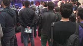 gamers : Bucharest, May The 10th, East European Comic Con, Huge Crowd Of People High Angle, Steady Cam Shot