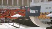 construir : BMX Bikers Warming Up For Extreme Sports Contest, Ramp, Speed, Medium Angle