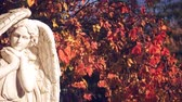 ангельский : White angel on the background of autumn foliage