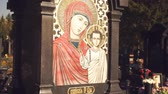 orar : Icon of the Mother of God on the monument
