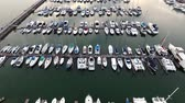 a view : Yacht harbor bird eye view