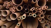 sítí : Rusty metal, iron, long bunch pipes in several different diameters together.