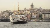 frequent : Istanbul passenger ferries Big domestic ferry is landing front of Galata Bridge
