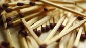 matchstick : Scattered matches rotating, close up video Stock Footage