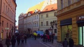 swarovski : PRAGUE, CZECH REPUBLIC - DECEMBER 3, 2016. Steadicam shot of touristic place in Old town.  video