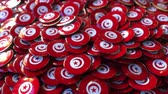 tunisian flag : Pile of badges featuring flags of Tunisia Stock Footage