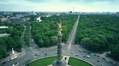 ecologic : BERLIN, GERMANY - APRIL 30, 2018. Aerial view of famous Victory Column and the city