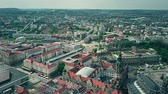 sloping : Aerial view of Dresden cityscape, Germany