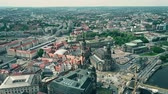 sloping : Aerial shot of Dresden center, Germany