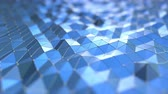 angular : Blue polygonal motion background. Seamless loop