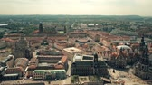 dresden : Aerial shot of historic buildings in Dresden center Stock Footage