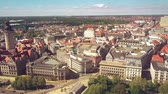 administrativo : LEIPZIG, GERMANY - MAY 1, 2018. Aerial view of the New Town Hall and townscape Vídeos