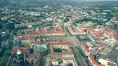 street view : Aerial view of Dresden city center, Germany