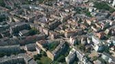 sloping : Aerial view of residential houses in Poznan, Poland
