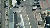 rooftop : Aerial top down view of an old factory Stock Footage