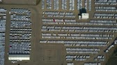 fabricante : High altitude aerial top down view of a car manufacturer warehouse Stock Footage