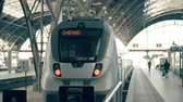 chengdu : Modern train to Chengdu. Travelling to China conceptual intro clip Stock Footage