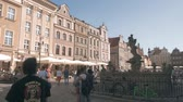 main street : POZNAN, POLAND - MAY 20, 2018. Crowded Main Square in Stare Miasto or Old Town