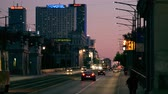 kia : WARSAW, POLAND - JUNE 9, 2018. Aleje Jerozolimskie major city street in the evening