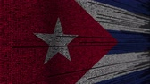 cubano : Program code and flag of Cuba. Cuban digital technology or programming related loopable animation Stock Footage