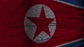 fonte : Program code and flag of North Korea. DPRK digital technology or programming related loopable animation Stock Footage