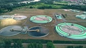 ecological : Aerial view of water treatment plant Stock Footage