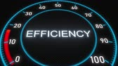 mínimo : Efficiency futuristic meter or indicator. Conceptual 3D animation