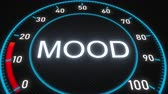 mínimo : Mood futuristic meter or indicator. Conceptual 3D animation