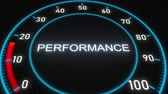 ânimo : Performance futuristic meter or indicator. Conceptual 3D animation Stock Footage