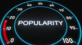 mínimo : Popularity futuristic meter or indicator. Conceptual 3D animation