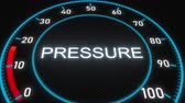 percentagem : Pressure futuristic meter or indicator. Conceptual 3D animation
