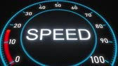 mínimo : Speed futuristic meter or indicator. Conceptual 3D animation Vídeos