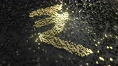 dochody : Indian rupee sign made of gold numbers