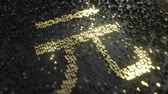 money abstract : Chinese yuan sign made of gold numbers