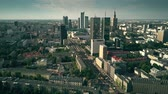 kia : WARSAW, POLAND - AUGUST 7, 2018. Aerial shot of the city centre