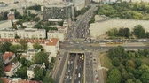 tranzit : Rush hour traffic in Warsaw, Poland, aerial view