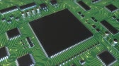 electronics industry : Operating generic chipset. Conceptual loopable animation