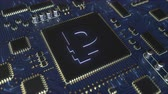 esfregar : Russian rouble RUR currency symbol on a chipset