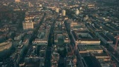townscape : Aerial shot of Zurich cityscape, Switzerland Stock Footage