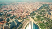 tetőtéri : Aerial view of Valencia, Spain Stock mozgókép