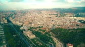 townscape : Aerial view of city of Malaga, Spain