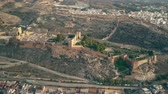 defensiva : Aerial view of Alcazaba of Almeria, an ancient fortress in southern Spain