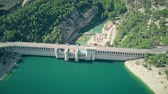 hydroelectric : Aerial view of the Alarcon Dam on the Jucar River, Spain