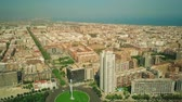 overview : Aerial view of Valencia cityscape as seen from Plaza de Europa, Spain