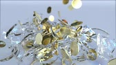 ezmek : Breaking glass piggy bank full of coins. Crisis related conceptual 3D animation